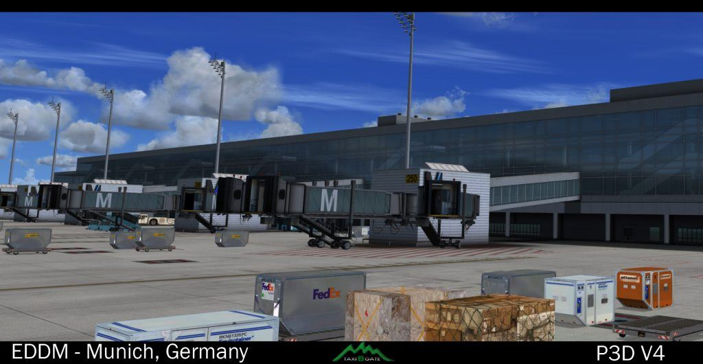 Taxi2Gate Münich Updated for P3D V4 – FSElite