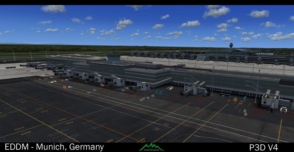 Taxi2Gate Münich Updated for P3D V4 – FSElite