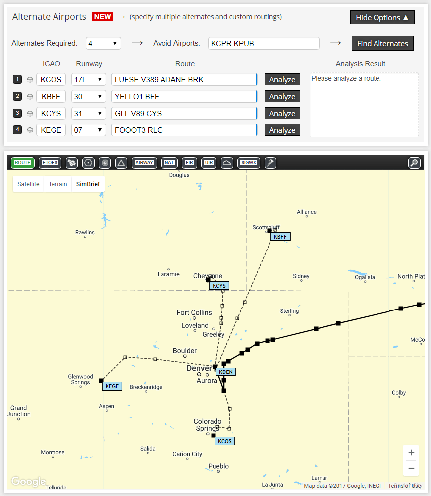 Simbrief Update – Alternate Airports Supported – FSElite