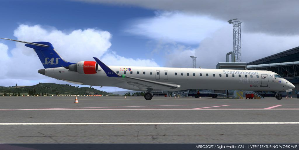 New Aerosoft CRJ Shots – Showing of the Paint Jobs – FSElite