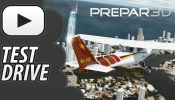 Test Drive P3D V4 Just Flight C152 Orbx CityScene Gold Coast