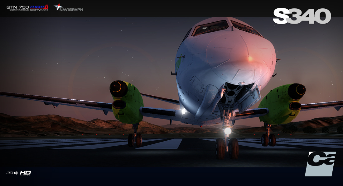 Carenado Saab S340 Released – FSElite