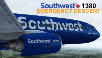 Prepar3D V4 Southwest 1380 Emergency Descent Into KPHL Simulation