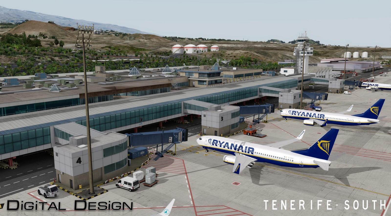 Aeroporto Tenerife Sud : Digital design releases more previews of tenerife south fselite