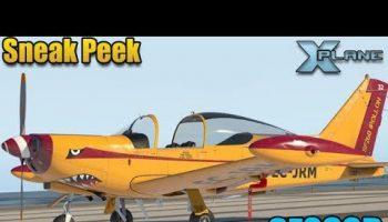 The SF260D Siai Marchitti Is Landing X Plane11