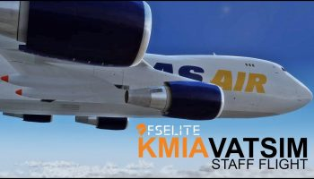 Prepar3D V4.4 FSElite Staff Flight Full VATSIM Approach KMIA PMDG 747 400